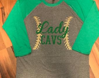 Glitter Baseball/Softball Team Raglan, Women's Raglan, Baseball Shirt, Softball, Baseball Raglan Shirt