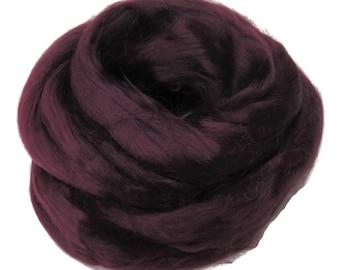 Viscose Fiber for felting ,spinning, paper making and art batts . color: Purple
