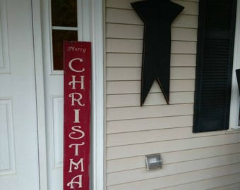 Merry Christmas -- Reversible -- Welcome Sign -- NEXT DAY SHIPPING