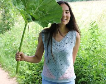 Verity Crochet Vest Pattern ~ Crochet Top Pattern ~ Summer Top Pattern for women