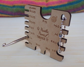 Crochet Hook Gauge. wood crochet hook gauge tool. Crochet hook measuring gauge. crochet tools