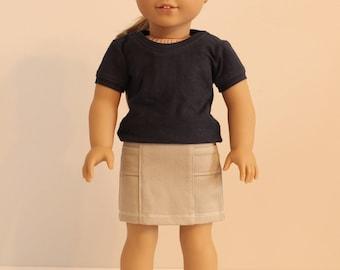 Khaki Panel Front Skirt