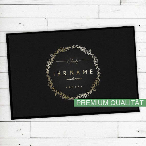"""Mat """"Gold"""" personalized with name or text"""