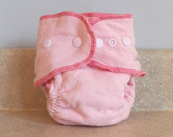 Fitted Medium Cloth Diaper- 10 to 20 lbs- Baby Pink- 18013