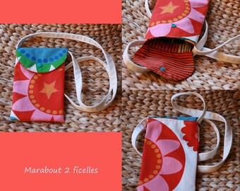 Multicolored rose shoulder bag