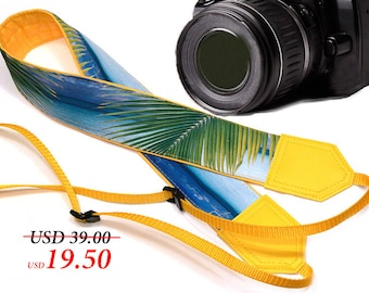 InTePro DSLR / SLR Camera Strap. Sea Camera Strap. Beach camera strap. Camera accessories. Photographer gift.