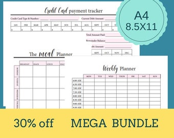Financial, Personal, and Home Printable Planner.  Budget Worksheet.  Instant Download.  Printable Budget Planner.  Financial Planner.