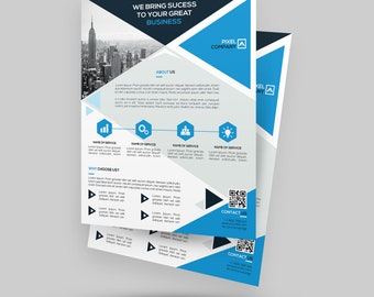 Corporate Flyer Template | Marketing Flyer | Photoshop Version | Instant Download