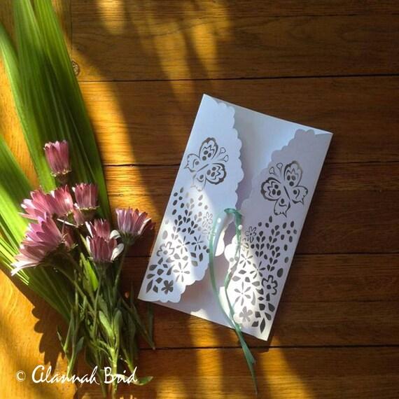 Wedding Invitation Envelopes Canada: Gate Fold Wedding Envelope SVG 5x7 Instant Download