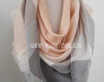 Blanket Scarf, Plaid blanket scarf, Tartan plaid scarf, Zara blanket scarf, Tartan scarf, Oversized scarf, Oversized plaid scarf,monogrammed