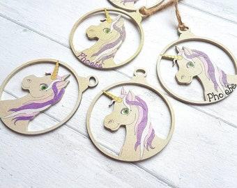 Unicorn Bauble, Unicorn Christmas, Magical Christmas, Personalised Bauble, Unicorn, Unicorn gift, Unique Bedroom Decor