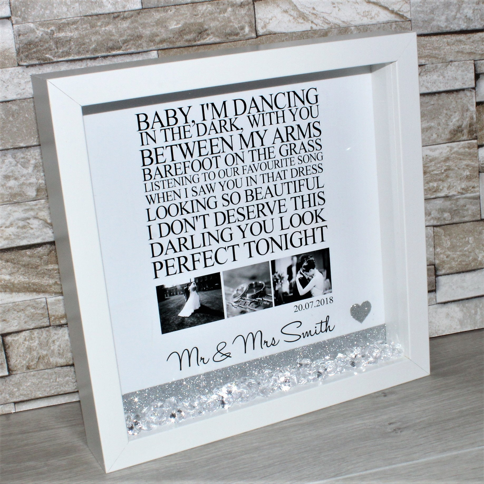 Ed sheeran perfect song lyrics song lyric frame ed sheeran frame sold by happycraftsboutique1 jeuxipadfo Gallery