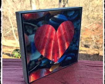 Photo block wall hanging  ( Heart) on canvas print
