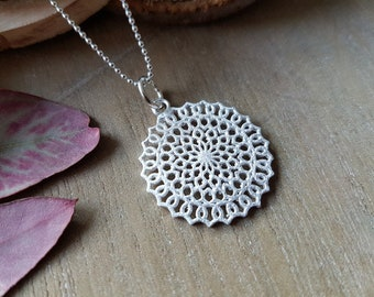 Necklace Mandala VII 925 silver