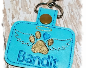 Pet Memorial Keychain, Pet Loss Keychain, PERSONALIZED Pet Memorial Key Fob, Dog Memorial Gift, In Memory of Dog, Angel Dog, Dog Keepsake