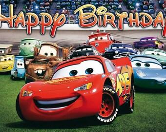 Disney Cars Birthday Banner 3