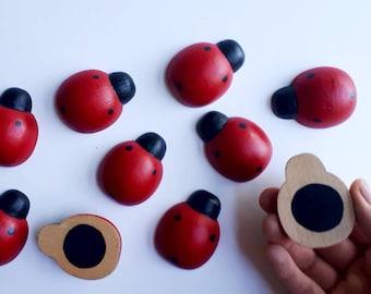 Memory Game, Busy bag, Montessori Toys, Montessori, Wooden Ladybug, Matching Game, Montessori, Wooden Toy, Educational Toy, Waldorf