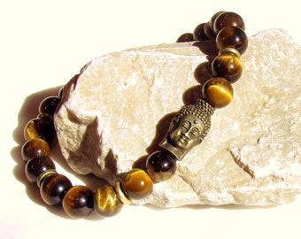 Buddha bracelet, chakra bracelet, yoga jewelry, meditation, tiger eye