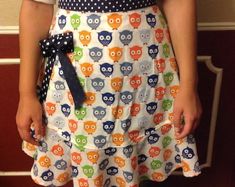 "Mommy and Me ""Owl"" Half Adult Apron"