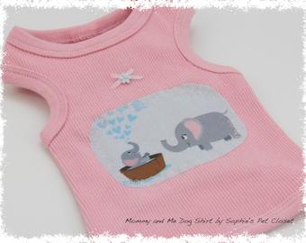 Mommy and Me Dog Shirt  - XS,S.. Dog Dress, Pet Clothes, Pet Clothing, Handmade Pet Clothes,Dog Apparel, Dog Outfit,Pet  Dress, Dog Shirt