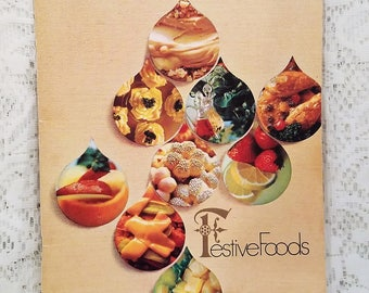 Vintage Cookbook, Festive Foods, Wisconsin Gas Company, 1968, Holiday Recipes, Entertaining, Vintage Recipes