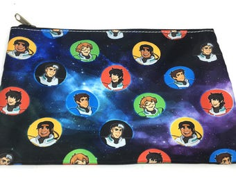 Voltron galaxy dotted pencil case pouch