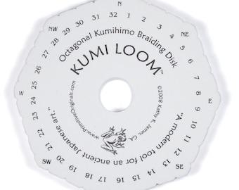 KumiLoom(TM) Octagonal Kumihimo Disk Loom for Japanese Braiding  6 Inch Diameter   Kumihimo Supplies Tool Findings Kumihimo Loom Kumiloom