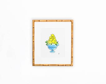 Chinoiserie Lemon Topiary No.1 DIGITAL Download Print 8x10