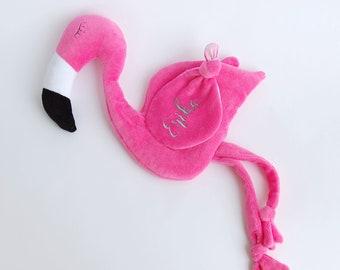 Flamingo Baby Shower, Plush Flamingo Toy, Personalized Baby Mini Blanket, Mini Blanket, Blankey, Blanki
