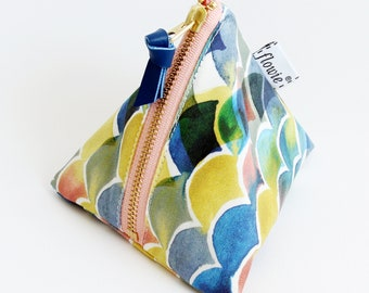 Triangle zipper pouch, Sunset ocean