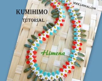 Tutorial Himena Kumihimo Daggers & Pip beads Necklace PDF