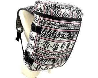 Hippie Adventurer Backpack, Tribal Trekker Backpack, Canvas Aztec Rucksack, Bike backpack, Boho Travel bag, Hipster Weekender backpack