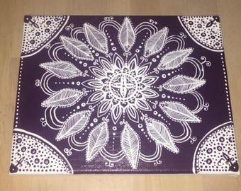 Purple Mandala 8 X 10 Canvas