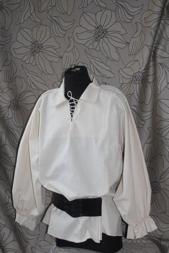 Men's Renaissance Shirt, Men's Pirate Shirt,Victorian Shirt ,Rustic Shirt pirates clothing rustic clothes festival clothing