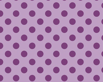 "LAVENDAR Medium Dots ~ 3/4"" Diameter Dots ~ Tone-on-Tone ~ 100% Cotton Fabric ~ 1/2 yard ~ 18"" x 44"" ~ from Riley Blake C430-120"