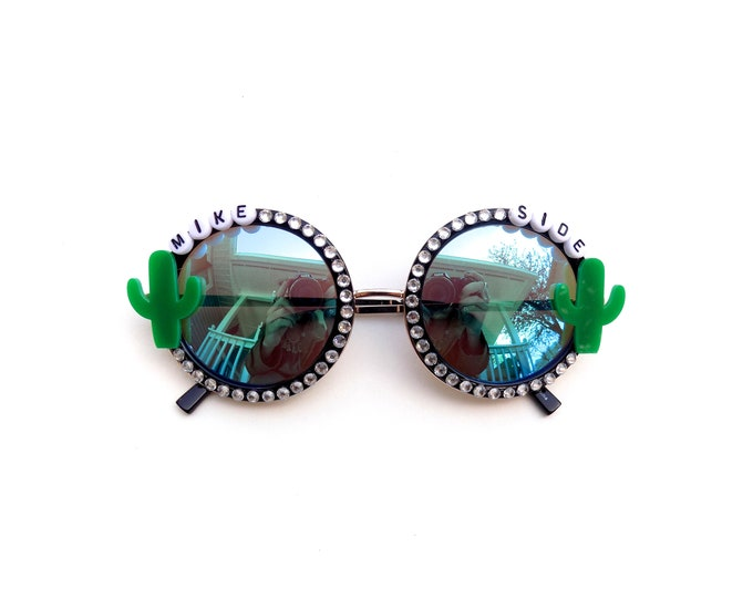 """Phish """"Mike Side"""" cactus decorated sunglasses by Baba Cool 