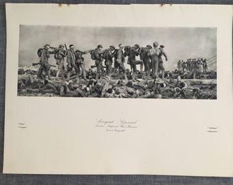 Sargent. Gassed. 1920's antique print