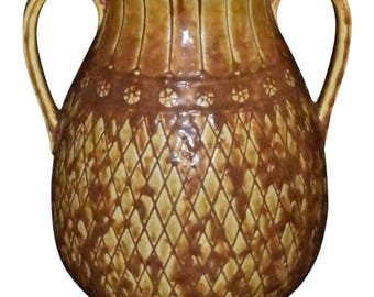 Rookwood Pottery 1925 Mottled Brown and Yellow Arts and Crafts Vase 2799