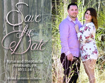 Save The Date Cursive