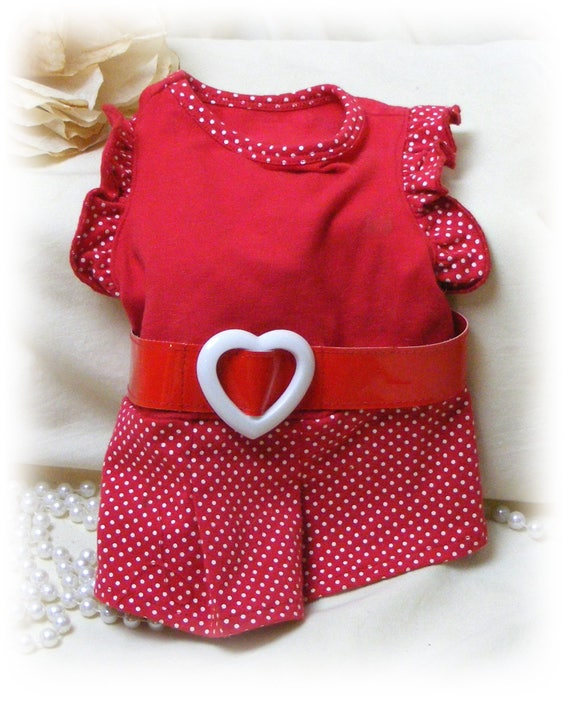 Adorable (SMALL) DOGGIE DRESS . . . (Custom Clothes Orders Welcome)