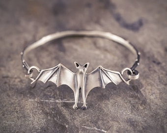 Bat Friend Bracelet! Handmade by Me in Sterling Silver, Bronze, or 14k Gold! / Bat Jewelry / Bat Accessory / Bat Bracelet