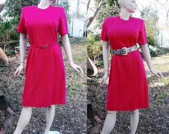 80s Dress, Vintage Jacket, Fuchsia Dress , 80s Costume, Vintage Dress, 80s Jacket, 80s Suit, Vintage Suit, Henry Lee, Dress Size 10