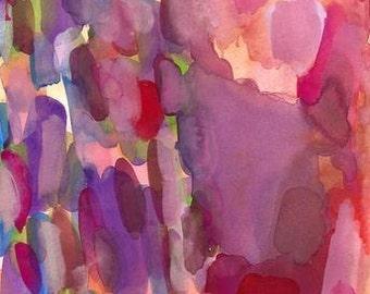 Large Art Print, Watercolor Painting, Energy