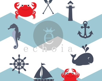 Silhouette Studio Nautical Character & Shapes Set