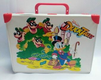 Vintage Ducktales vinyl suitcase Duck Tales
