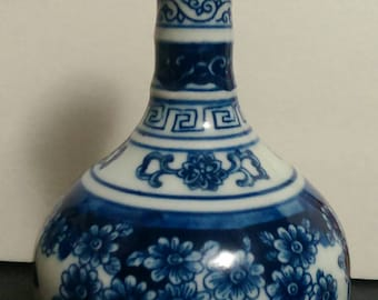 Antique Chinese Blue and White Porcelain Vase ( Marked )