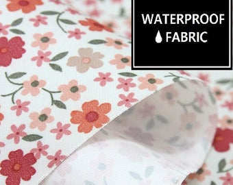 "Waterproof Fabric - by Yard, 150cm(59"") Width, Floral Pattern,"
