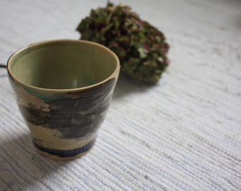 Handmade ceramic cup, abstract, decorative, pottery cup, ceramic cup, wheel thrown, handmade gift, housewarming gift
