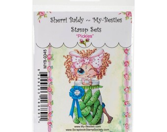 "PICKLES - My BESTIEs by SHERRi BALDY - "" Pickle Jar ""  Clear Stamp - New in Pkg."