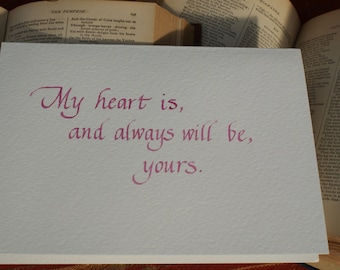 Valentine, Anniversary Love Greeting Card from Sense and Sensibility by Jane Austen